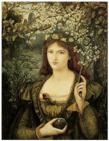 Madonna Pietra degli Scrovigni, Marie Spartali Stillman, 1884