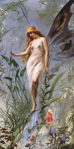 Lily Fairy, 1888, by Luis Ricardo Falero [Public domain], via Wikimedia Commons
