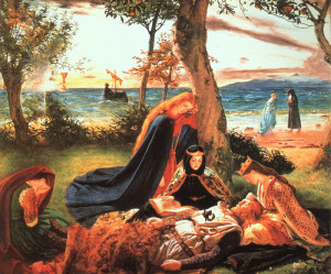 The Death of King Arthur by James Archer (1823-1904)